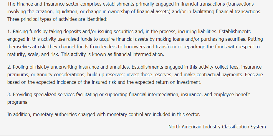 Finance and Insurance Description