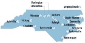 North Carolina Locations for Job Training